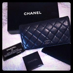 CHANEL Bags - Chanel CC Matelasse Bifold Long Wallet